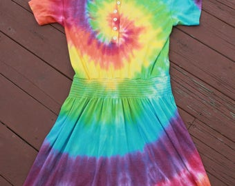 Tie Dye Dress Size 13/14 Upcycled