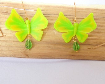 Butterfly earrings gift for her polymer clay jewelry summer jewelry insect jewelry butterfly jewelry insect earrings summer jewelry butterfl