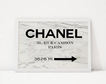 CHANEL WALL DECOR,Chanel illustration,Fashion Illustration,Coco Chanel Paris,Chanel 31 Rue Cambon,Original Chanel,Chanel Baby,Marble Decor