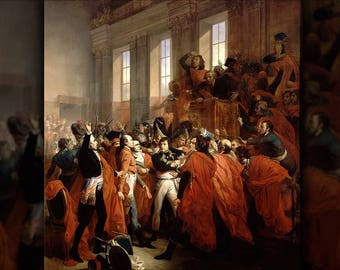 Poster, Many Sizes Available; Napoléon Bonaparte In The Coup D'État Of 18 Brumaire, Which Marked The End Of The Revolution