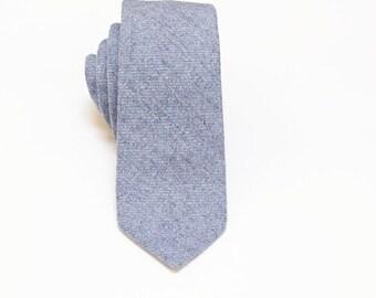 Pastel Blue Wool Tie.Blue Wool Necktie.Blue Wool Wedding Tie.Gift.