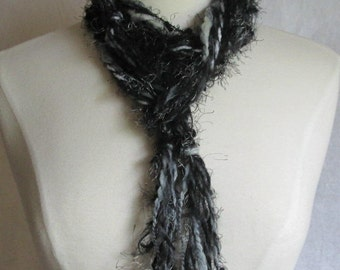 The Knotty Scarf in Black and Grey