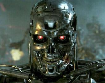 Terminator mask for cosplay postapocalict cyberpunk softair