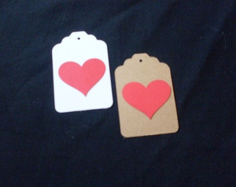 Die Cut Heart Gift tags With hole