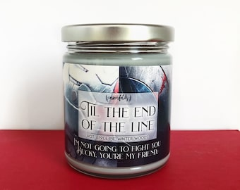Til the End of the Line | Avengers Inspired 4oz. or 8oz. Scented Soy Candle