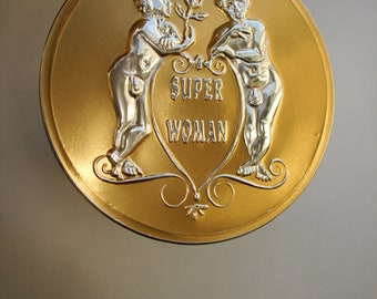 Super Woman chocolate Medal (girlfriend, wife, bride, beauty queen, date, humour)