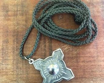 Pompier pendant brass / plated . Vintage pendant !