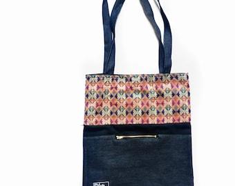 Tote Bag- Made in Nepal-Denim-Beach Bag-Canvas-Fabric-Dhaka