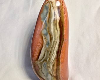 Stunning Polychrome Jasper! Polychrome Jasper Free Form! Terra Cotta and Blue Desert Jasper Free Standing Display Piece!