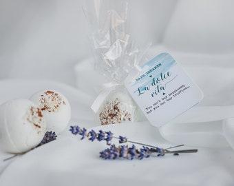 Almond bath bomb, bath creamer La dolce vita