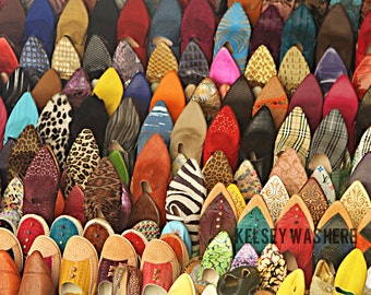 Moroccan Slippers Print