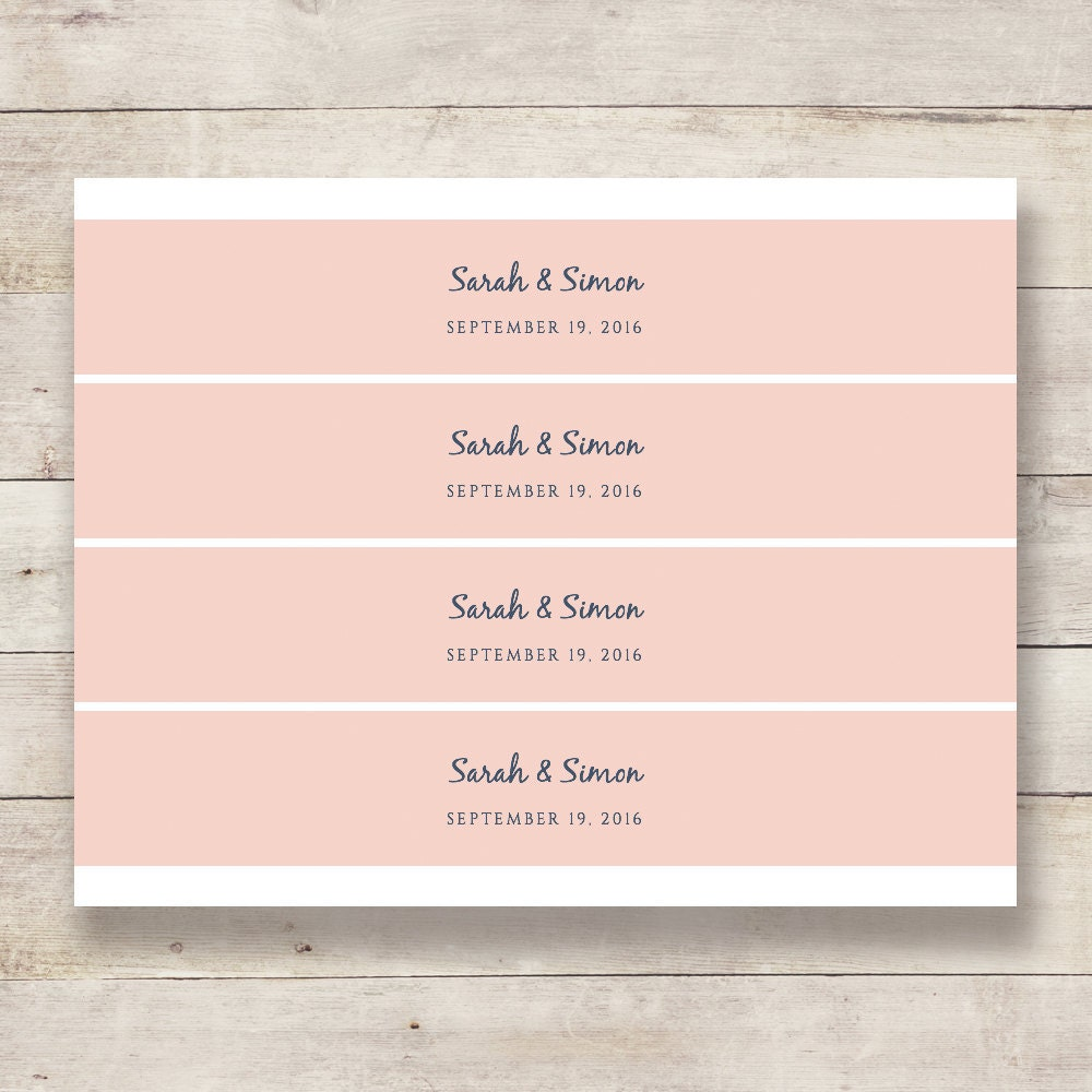 Diy Printable Belly Band Template Wedding Invitation Wrappers