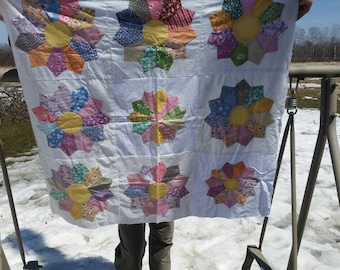Baby Size Dresden Plate Quilt Top