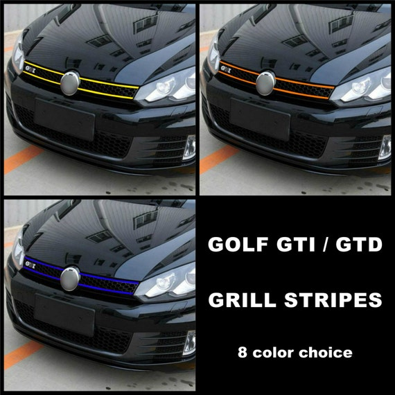 VW Volkswagen Golf Front Grill Stripes Decal Wrap Graphics MK6