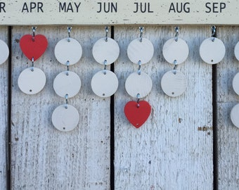 Family Celebration board extra circles and hearts, Birthday board tags, wooden circles, wooden hearts, birthday board pieces, wood discs