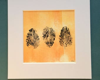 Original leaf Monoprint