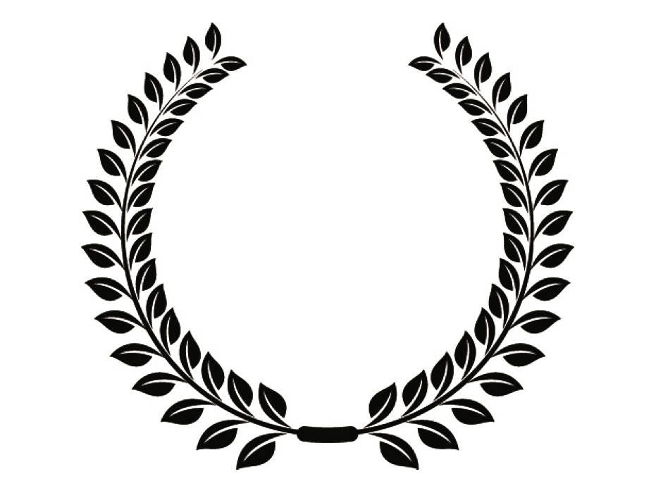 wreath  13 olive branch leaves logo design element emblem