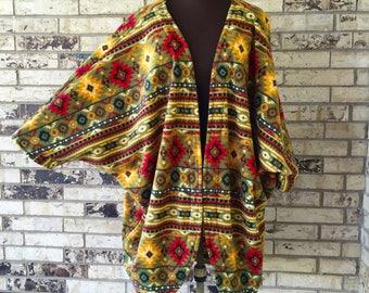 Plus Size Roomy Fleece Jacket/Shrug