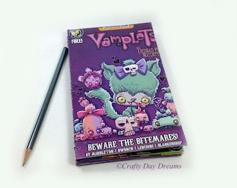 Vamplets The Undead Pet Society Halloween ComicFest Handmade Coptic Bound Book Journal Diary Sketchbook Action Lab Comic