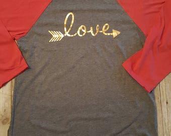 Love Valentine raglan