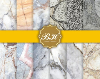 Marble Digital Paper, Marble Background, Digital Marble Pattern, Marble Texture, Stone Texture Digital Paper, Stone Photo Backdrops