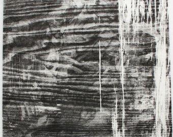 Woodcut on Kozo paper by Volkhardt Muller. Exeter Portfolio