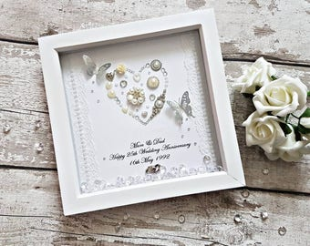 Personalised Wedding frame. Unique Keepsake, engagement gift, anniversary gift, gifts for her, wedding keepsake, couples gifts, bride to be