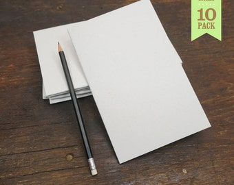 Bulk White Notebooks, 5x8, Blank Page, Sketchbook, Blank Journal, Notebook, Great for Notes, Journaling and Sketching. Set of 10.