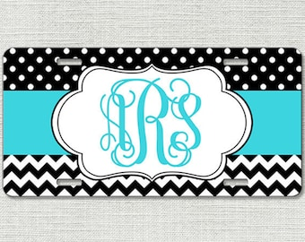 Personalized Monogrammed License Plate Car Tag, Monogram License Plate, Personalized License Plate, Monogram Car Tag - Turquoise 9161
