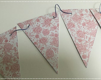Vintage style paper bunting