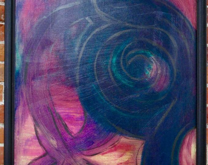 """Framed Abstract Painting """"Imagination Wild"""""""