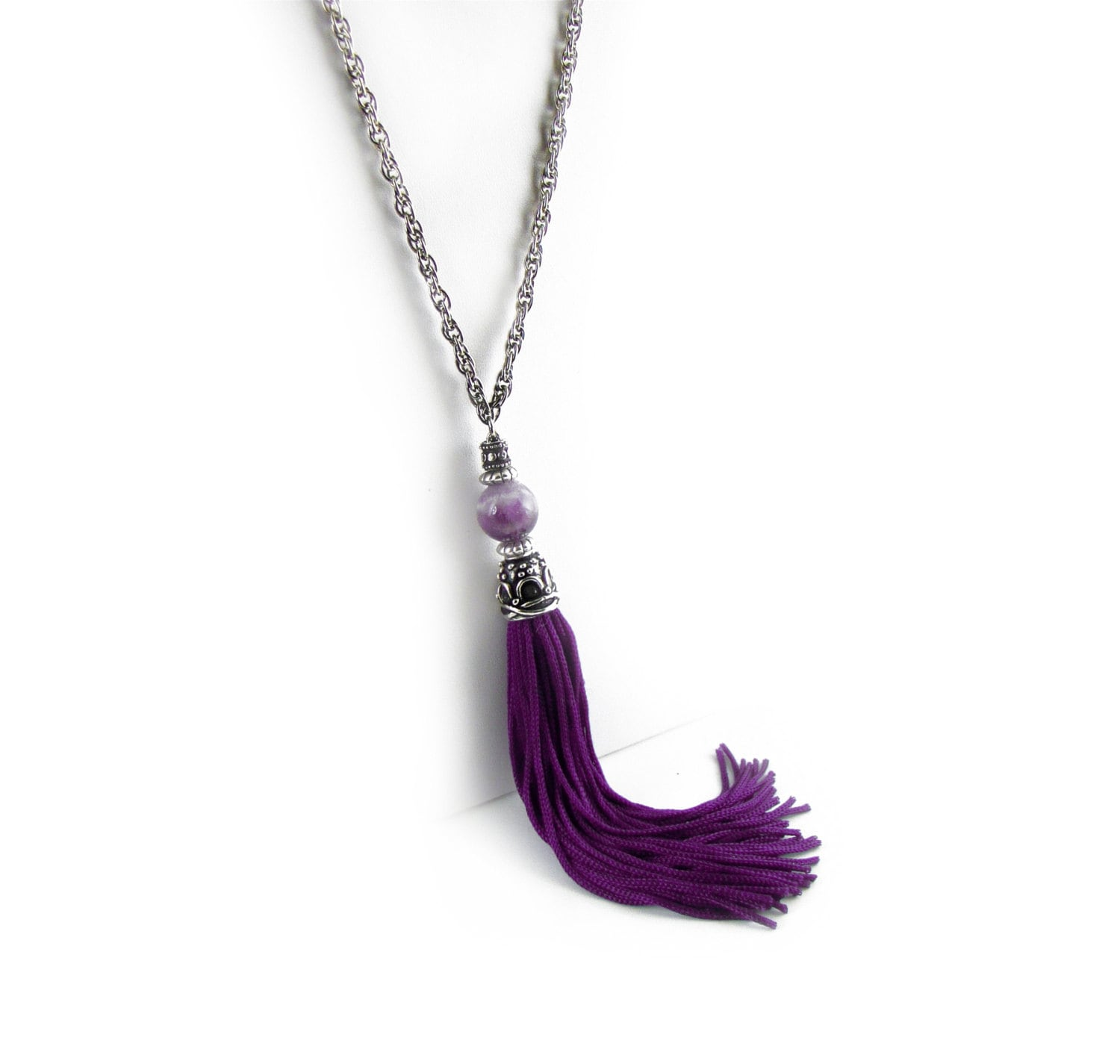 versona trio default ball necklace tassel item l