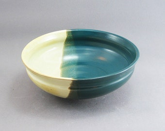 Pottery Medium Bowl Yellow Salt & Oribe Green FF02
