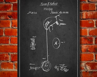 1866 Yo-yo Patent, Canvas Print, Wall Art, Home Decor, Gift Idea