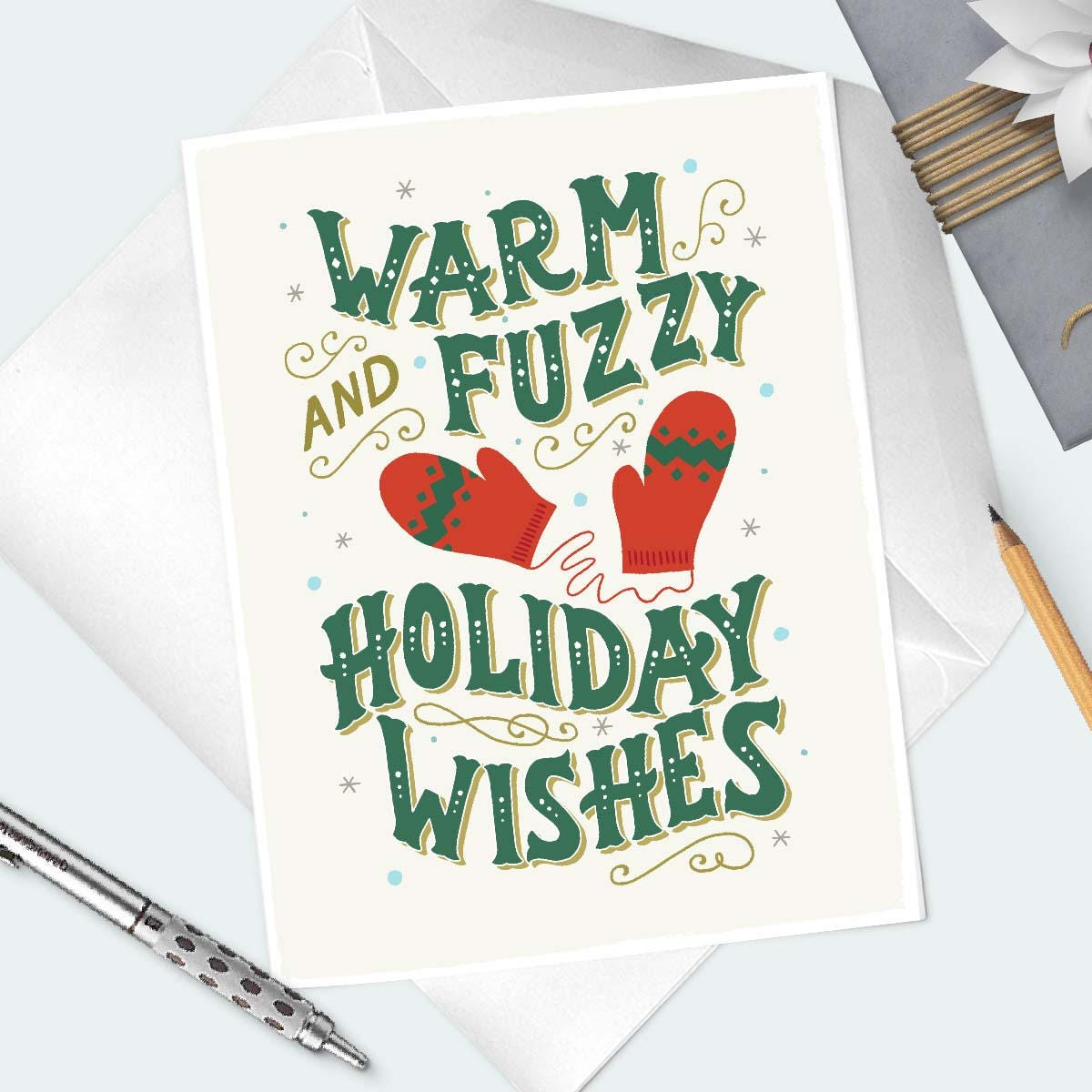 Holiday Wishes Card Nonspecific Winter Season Greetings Card