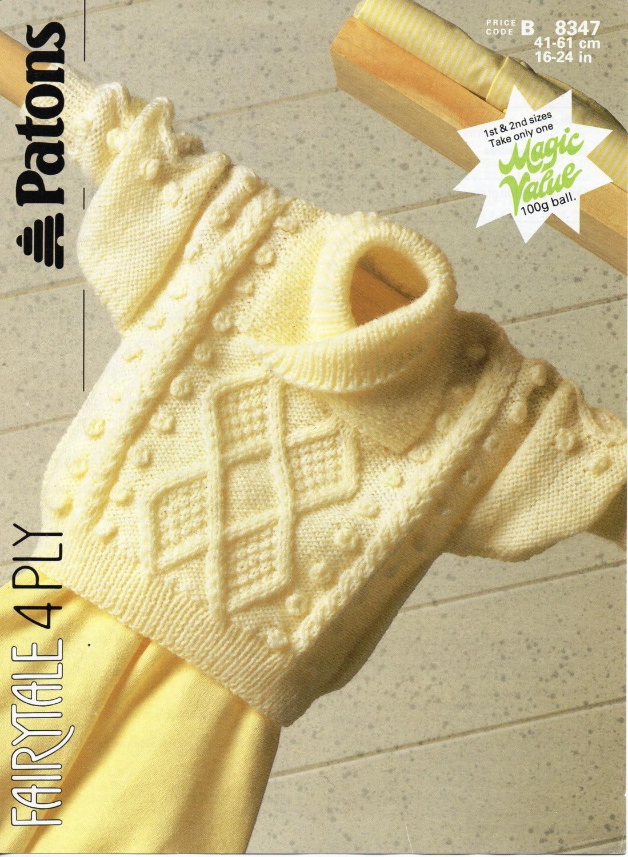 baby cable shawl collar sweater knitting pattern pdf baby aran ...