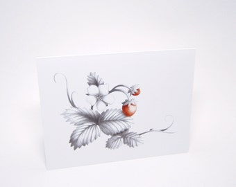Wild Strawberry Note Card