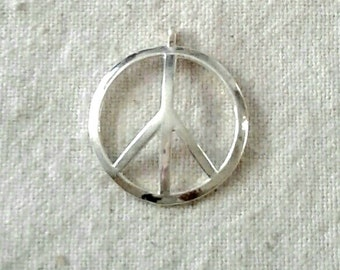 Peace sign pendant etsy silver plated pewter peace sign pendant 1 or audiocablefo