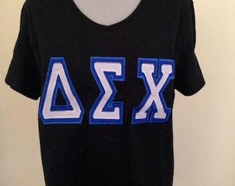 Sorority Jersey| Sorority Shirt| Greek Jersey double applique