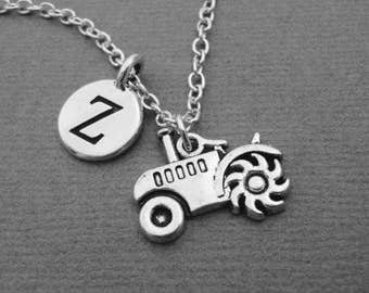 Tractor Necklace, Farm Equipment Bangle Bracelet, Farmers Tractor Keychain Keyring, Farming Jewelry, Gift for Farmer Farmers Market Produce