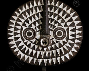 Ethnographic Art Image Series / Portrait of Bobo-Bwa Sun Mask / Tribal Art–African Art / High Res Print / Fine Art Photography