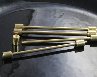 raw brass barbell,  4 pcs 6x89 mm 3 mm bar,raw brass pendant, finding industrial design, pendant finding industrial design bb3-89