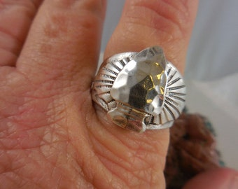 Native American Arrowhead Sterling Silver Ring