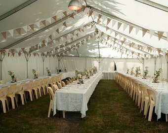 Hessian & White Bunting