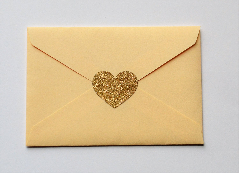 Gold Glitter Heart Stickers Silver Glitter Heart Stickers