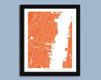 Hoboken map, Hoboken city art map, Hoboken wall art poster, Hoboken decorative map