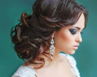 Wedding earrings, Drop Dangle Earrings, Wedding Earrings, Vintage Long Earrings, Bridal Earrings, Chandelier Earrings