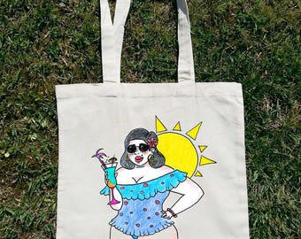 Body Positive Tote, Woman Tote Bag, Art Tote Bag, Unique Tote Bag, Body Positivity, Cotton Tote Bag, Art Tote, Woman Grocery Bag