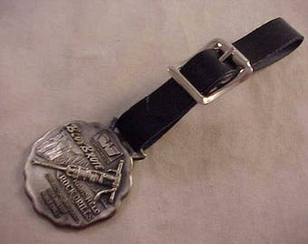 Worthington BlueBrute Advertising Watch Fob With Black Leather Strap