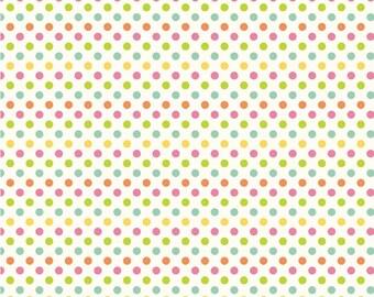 Small Multi Dot on Cream - Fat Quarter Cut -  Riley Blake Designs - Dot Fabric - Small Dots - Cotton Fabric